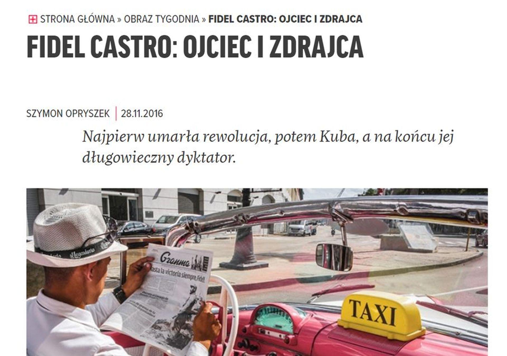 Więcej o śmierci Castro w Tygodniku Powszechnym